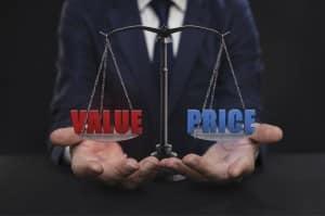 Value vs Price Concept