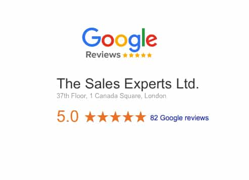 Google Reviews about The Sales Experts